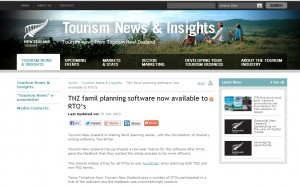 Tourism New Zealand Now Using the Tourwriter Travel Software